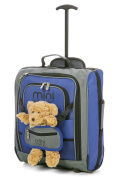 MiniMAX Childrens/ Kids Cabin Luggage Carry On Trolley Suitcase Backpack INCLUDES Teddy Bear/ Cuddly Soft Toy
