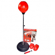 Adjustable Free Standing Punching Speed Ball Bag With Boxing Gloves