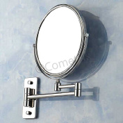5X Magnifying Wall Mounted Double Side Round Mirror For Shaving Beauty Make Up