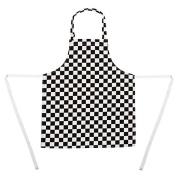 Whites Chefs Clothing B357 Children's Cheque Apron, Black/White