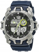 Armitron Sport Men's 20/5157NVY Analogue-Digital Chronograph Navy Blue Resin Strap Watch