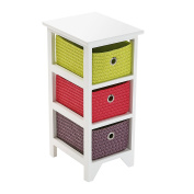 Versa - bathroom chest with 3 baskets