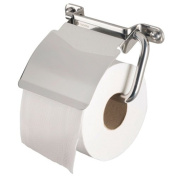 """Haceka Toilet Roll Holder """"Ixi"""" with Lid Brillant, Silver"""