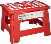 "Kikkerland ""Rhino Ii"" Step Stool, Plastic, Red, 24-Piece"