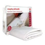 Morphy Richards 600112 All Night Heated Underblanket (122cm) New Washable - Double (4 Heat), White