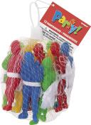 Toy Parachute Men Party Bag Fillers, Net Bag of 12