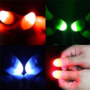 SevenMye 2Pcs Magic Super Bright Light Up Thumbs Fingers Trick Appearing Light Close