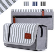 Pencil Case, Fyy Premium Canvas Pencil Bag Pencil Box Grey