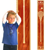 Growth Chart Art | Wooden Height Chart | Sports Growth Chart for Kids, Boys & Girls | Sports Themed Nursery Decor | Lacrosse Maple