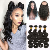 Shengji Hair 360 Lace Front Closure with Bundles for Black Women Brazilian Virgin Human Hair 7a Body Wave 360 Lace Frontal with Baby Hair