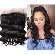 Msbeauty 360 Lace Frontal Closure Body Wave Virgin Peruvian Hair with Natural Hairline 30cm Natural Black Colour