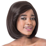 Finders 36cm Black Bob Wigs Straight Heat Resistant Synthetic Wigs For African American Women