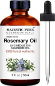 Majestic Pure Rosemary Essential Oil, Highest Quality with 30% 1,8-Cineole & 20% Camphor, 30ml