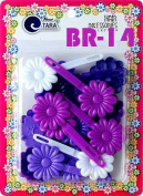 Tara Girls Self Hinge Plastic Flower Hair Barrettes 18 Pieces Selection