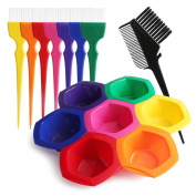 DIY/Professional Tint Kit, Segbeuaty Hair Colouring Highlighting Tools on Hair Dye, Rainbow Hair Colour Mixing Bowls Brushes Comb for Dyed Hair, Omber Hair Dye or Art Paint Palatte
