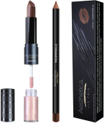 Aesthetica Matte Lip Trio - Instant Bold Matte Lip - Includes Matte Lipstick / Lip Gloss Duo, Lip Liner and Step-by-Step Instructions – Long Wear Formula Keeps Lips Moist