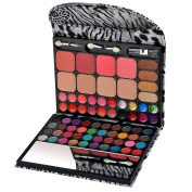Ecvtop All-in-one Makeup Kit Professional Eye Shadow Palette Lip Gloss Blush Eyebrow Powder,72 Colours