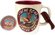 Stache Bomb Stache Wax- Shaving Set