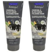 Freeman Facial Charcoal & Black Sugar Polish Mask 180ml - Set of 2