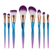 AutumnFall Colourful Cosmetic Eyebrow Eyeshadow Brush Makeup Brush Sets Kits Tools