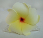 Hawaiian Plumeria Foam Flower Hair Claw Choose Colour