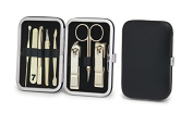 World No. 1. Three Seven (777) Travel Manicure Pedicure Grooming Kit Set - Included (Total 8 Pcs