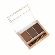 Tonsee Makeup 3 Colours Eyebrow Powder Concealer Palette With Mirror Eyebrow Brush