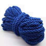 U Pick 10yds 5mm Decorative Twisted Satin Polyester Twine Cord Rope String Thread Shiny Cord Choker Thread