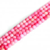 JarTc juicy peach chalcedony scattered beads DIY beaded jewellery necklace bracelets bead fittings semi-finished round bead