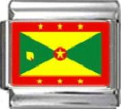 GRENADA GRENADIAN FLAG Photo Italian Charm 9mm - 1 x PC070 Single Bracelet Link