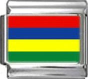 MAURITIUS MAURITIAN FLAG Photo Italian Charm 9mm - 1 x PC115 Single Bracelet Link