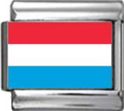 LUXEMBOURG FLAG Photo Italian Charm 9mm - 1 x PC104 Single Bracelet Link