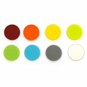 2.5cm Circle Rainbow Assortment Fusible Pre-Cut 8 Pack - 96 COE