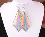 Leiothrix Bohemia Rhombus Handmade Colourful Silk Alloy Earrings for Women and Girls Apply to Wedding Party Casual