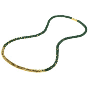 Long Beaded Kumihimo Necklace - Green and Gold - Exclusive Beadaholique Jewellery Kit