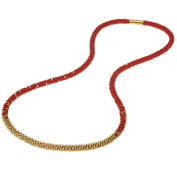Long Beaded Kumihimo Necklace - Red and Gold - Exclusive Beadaholique Jewellery Kit