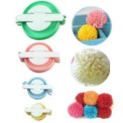 Dofover 4 Size Pompom Maker For Fluff Ball Bobble Weaver Needle Craft Knitting Wool Tool Kit DIY