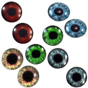 25mm 1 Inch Wide Human Wholesale Glass Eyes Prop Cabochons for Jewellery or Craft Making 5 Pairs Bulk Lot