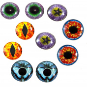 30mm Fantasy Wholesale Glass Eyes Steampunk Cabochons for Jewellery or Craft Making 5 Pairs Bulk Lot