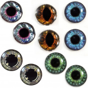 25mm Steampunk Wholesale Glass Eyes Steampunk Cabochons for Jewellery or Craft Making 5 Pairs Bulk Lot