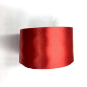 5.1cm Wide Single Face Satin Ribbon, Selling Per Roll/15 yards in Red