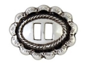 Rio Grande Western Bright Silver Slotted Concho 1″ by 1.9cm set of 2 pcs