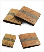 Men's Leather Wallet,Charminer Business Men's Leather Wallet PU Leather Short Plaid Soft Surface Matte Wallet Casual Bi-fold Wallet coffee crosswise