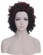 Diforbeauty Afro Short Fluffy Kinky Curly Synthetic Hair Wigs for Black Women