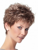 Finders 20cm Natural Short Curly Wig Light Brown Heat Resistant Synthetic Wigs For Women