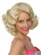 Finders Retro Style 41cm Short Curly Wigs Blonde Heat Resistant Synthetic Wigs For Women