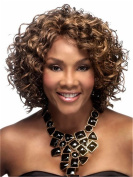 Finders 41cm Short Curly Wigs Afro Kinky Wig Brown Blonde Heat Resistant Synthetic Wigs For African American Women