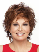 Finders 25cm Short Curly Wig Ombre Blonde Auburn Heat Resistant Synthetic Wigs For Middle - aged /Elderly Women