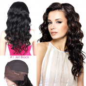 Mike & Mary Indian Remy Hair Lace Front Wigs Body Wave for Black Women with Baby Hair