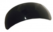 Parcelona French Curved Extra Large Glossy Black Wide Celluloid Acetate Hair Clip Barrette for Thick Hair